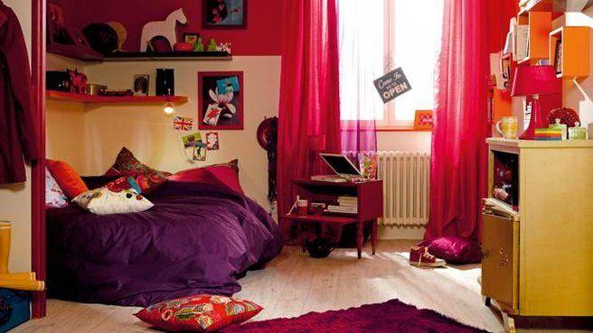 Chambre couleurs chaudes   pokój młodzieżowy   Pinterest   Room ...