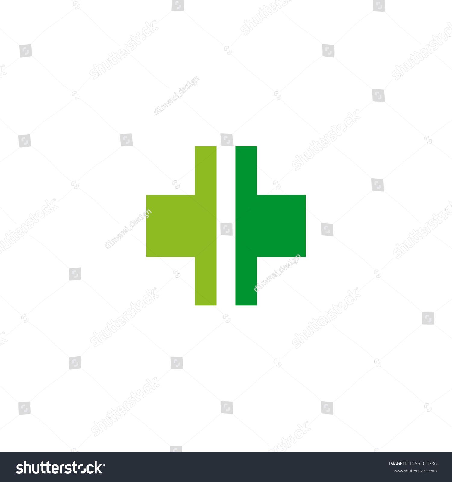 Medical and health care icon logo design vector