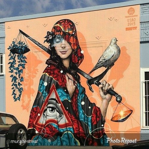 "Repost from @muralfestival ""An impactful collaboration between @esao and @tristaneaton for @staticmedium in Los Angeles."" #vimural #mural #streetart #urbanart #wallart #urban #graffiti #graffitiart #ironlak #Belton #molotow #mtn #streetartist..."