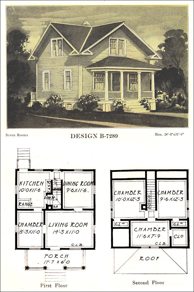 1918 Colonial Cross Gabled Box Early 20th C Vernacular Home Design Vintage House Plans American Houses House Design