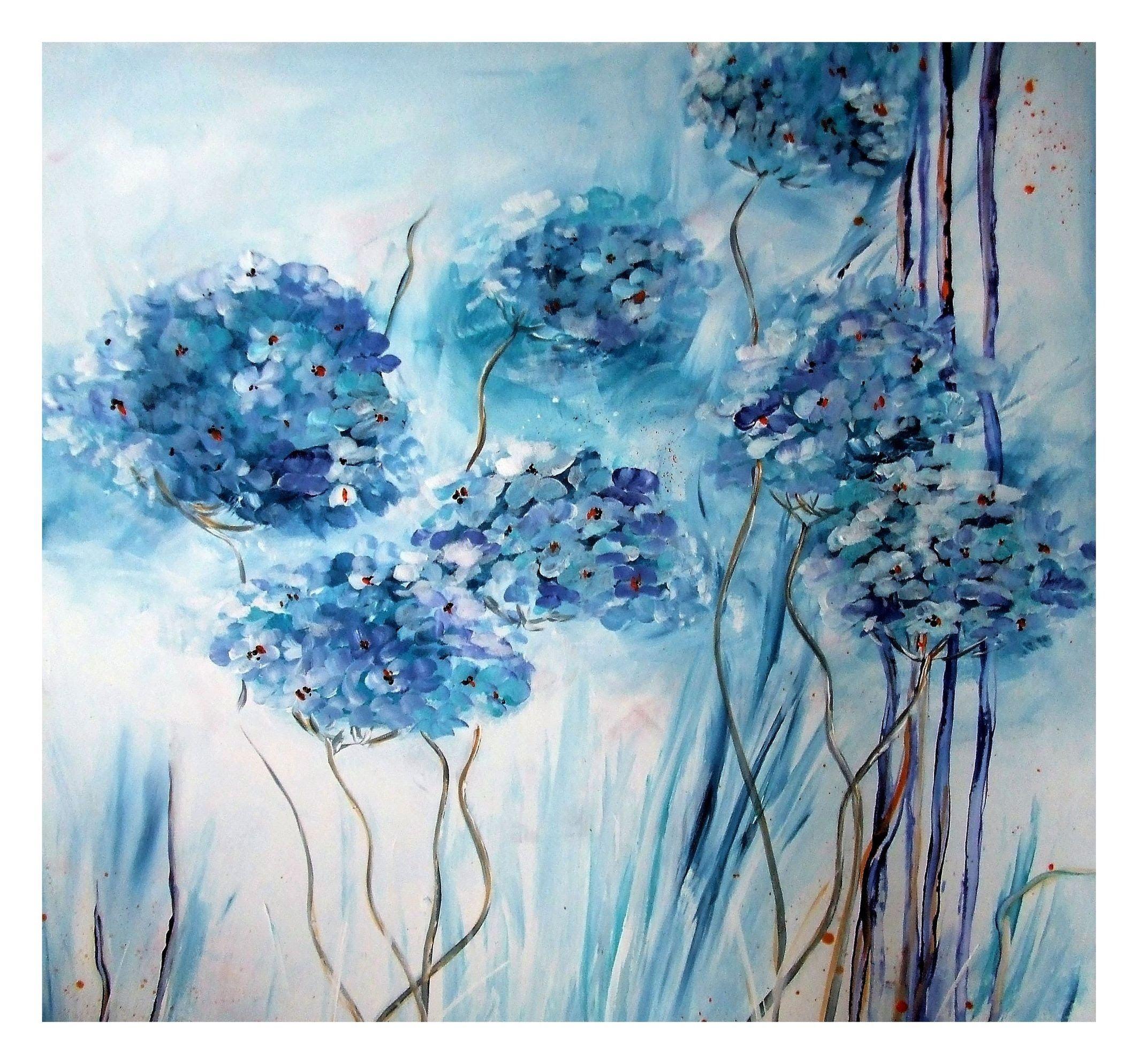 Acrylmalerei Bluten Malen Painting Flowers Tutorial Blumen
