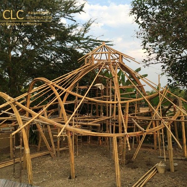Bamboo Dome Sala With Images Bamboo Roof Bamboo Structure
