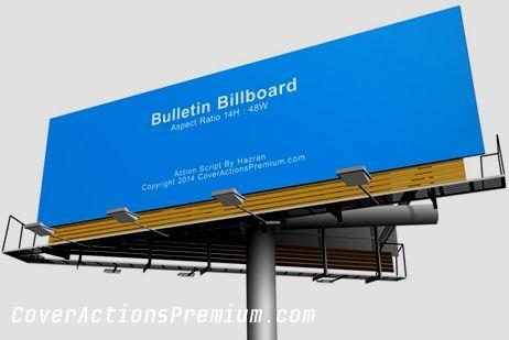 Bulletin Billboard Mock Up Action Scripts Cover Actions Premium Mockup Psd Template Mocking Billboard Bulletin