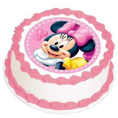 Minnie Mouse Edible Cake Image Topper Cales Cake Party Mickey