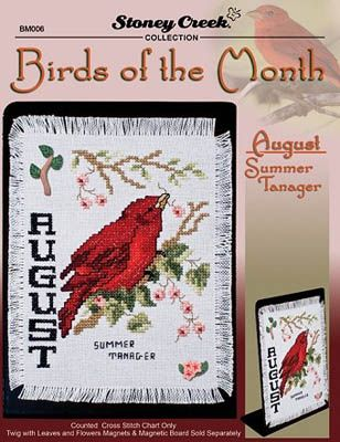 Birds of the Month - August (Summer Tanager)