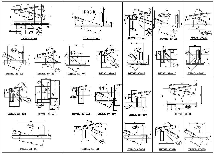 truss structure details v7  u2013 cad design