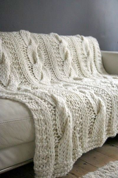 Chunky Knit Throw Blanket Wool Blanket Cable Knit Blanket Sofa Throw Baby Blanket Home Decoration Made T Knitted Throws Hand Knitted Throws Cable Knit Blankets