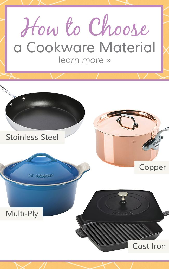 Understanding The Differences In Cookware Materials Will Help You