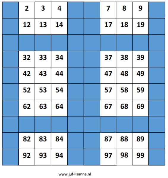 Montessorimateriaal: honderdbord inlegvellen / voorbeeldkaarten ...