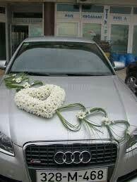Herzen Auto Schmuck #bridepictures