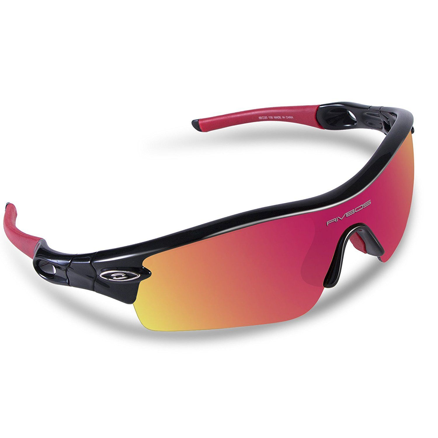 RIVBOS Unisex Polarized Sports Sunglasses with 5