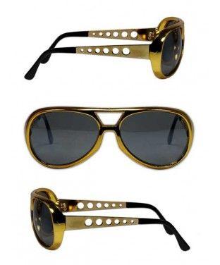 3fd2e0f1206 Elvis Presley 1970 s Gold Sunglasses
