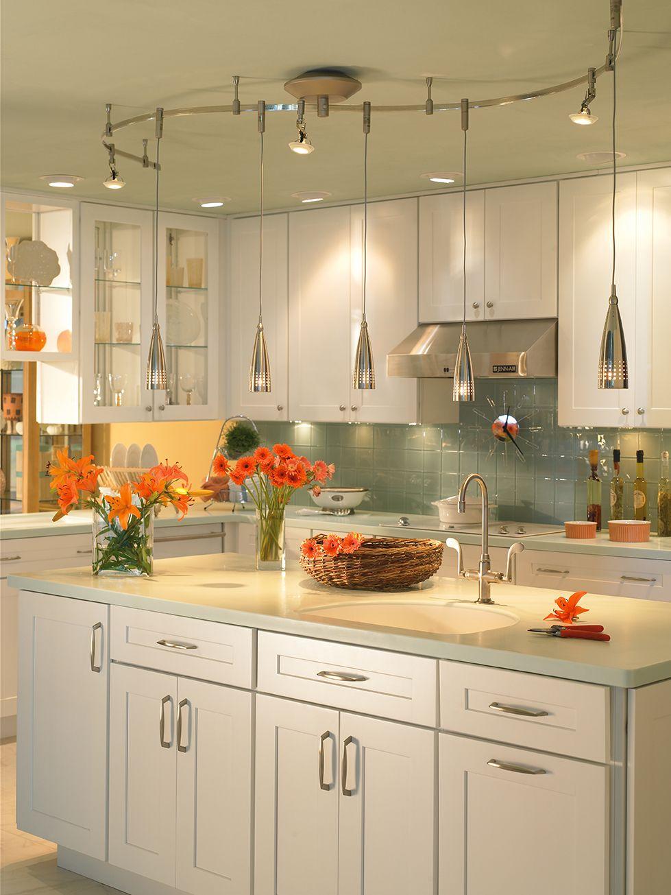 Illuma Flex Track Lighting Installed In A Kitchen From: Pin By Denney Lighting & Design On Kitchen & Bar Lighting