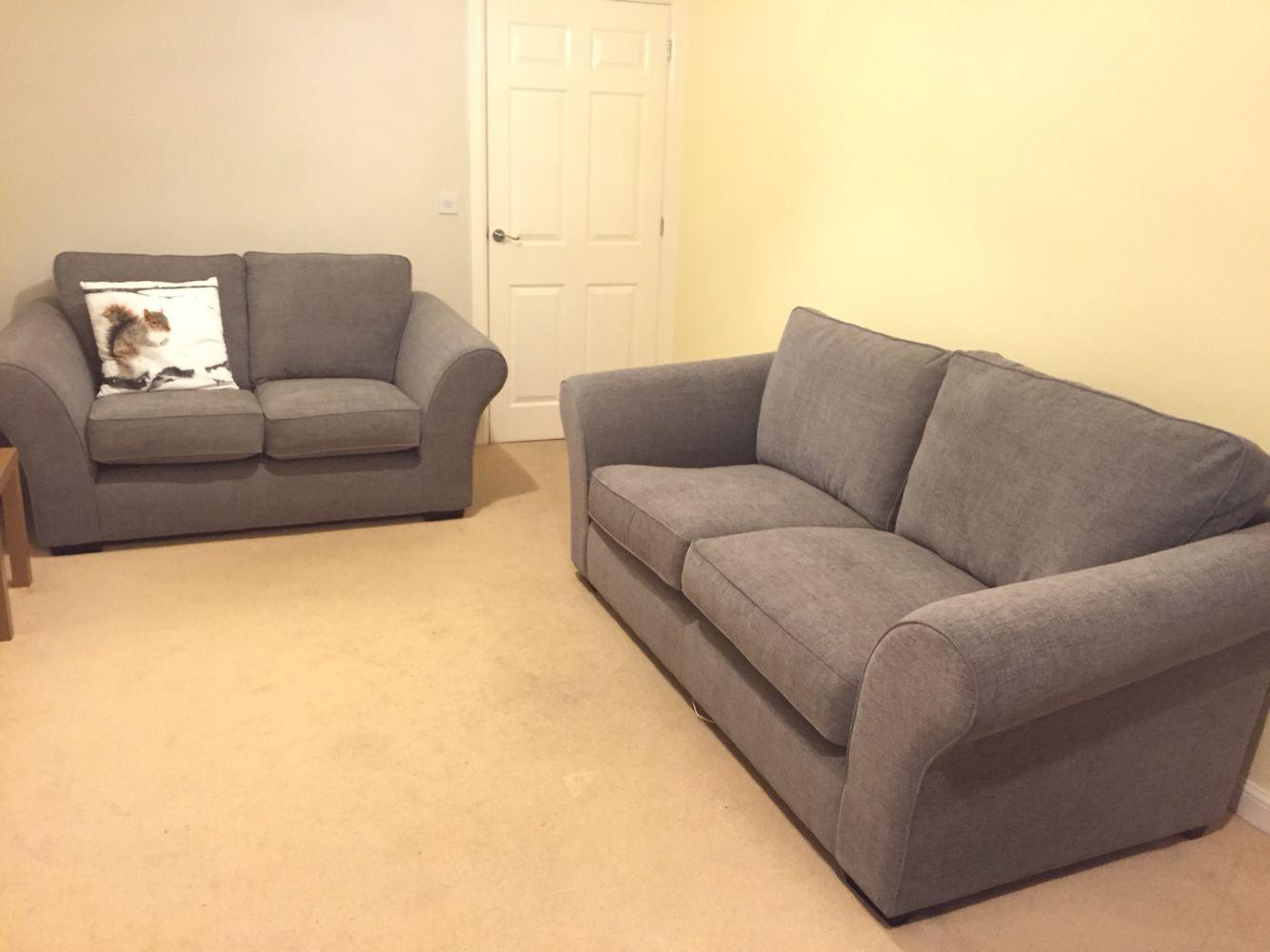 next plush chenille mid grey ledbury sofa  living room
