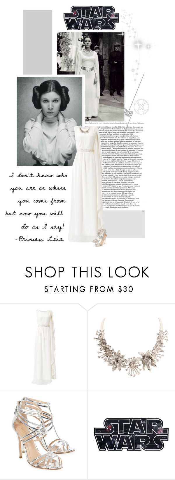 """Princess Leia"" by supercalifragilistica ❤ liked on Polyvore featuring Monsoon, Alexander McQueen and Aquazzura"