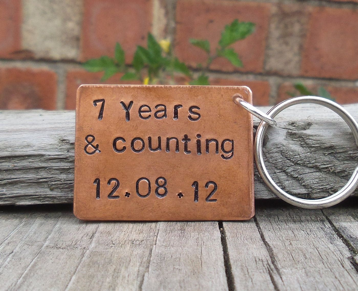 7 years and counting solid copper 7th wedding anniversary