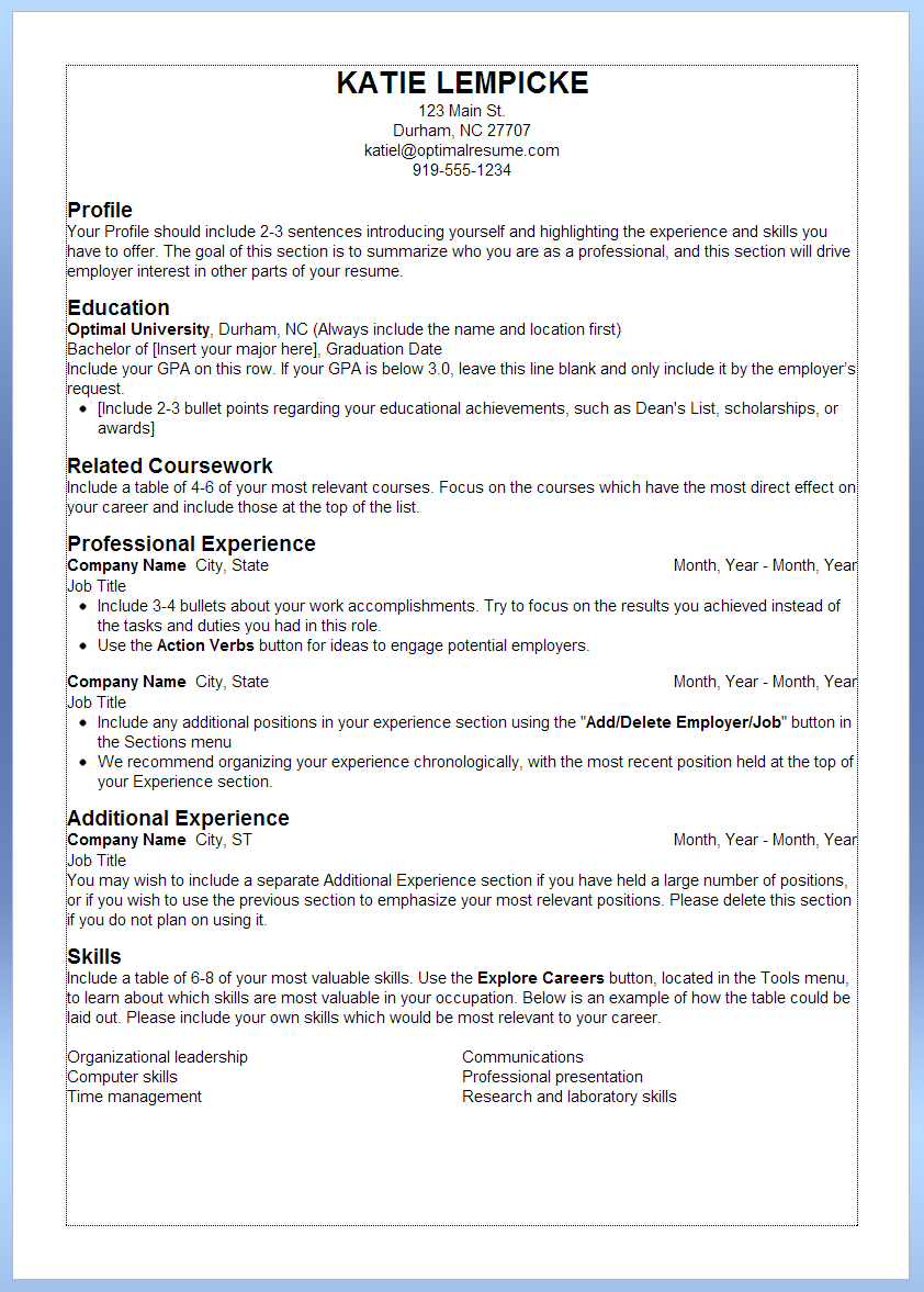 Resume Format Best Practices Job Resume Format Job Resume Best Resume Format