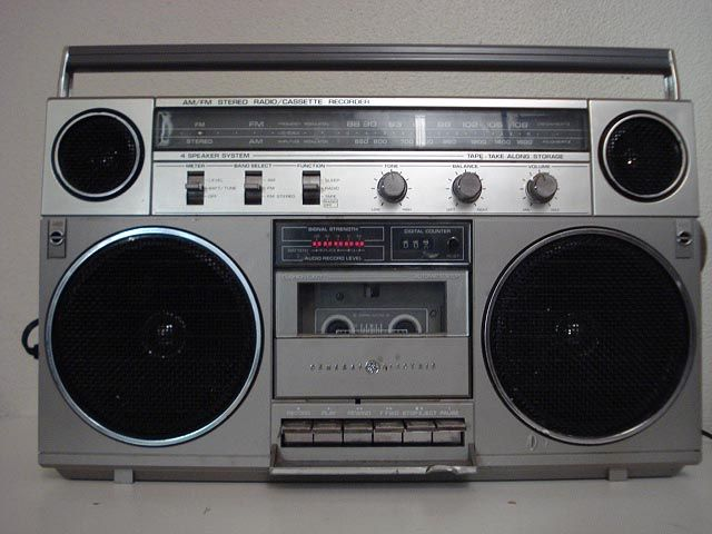 80's boom box - had to have one for mixing tapes.