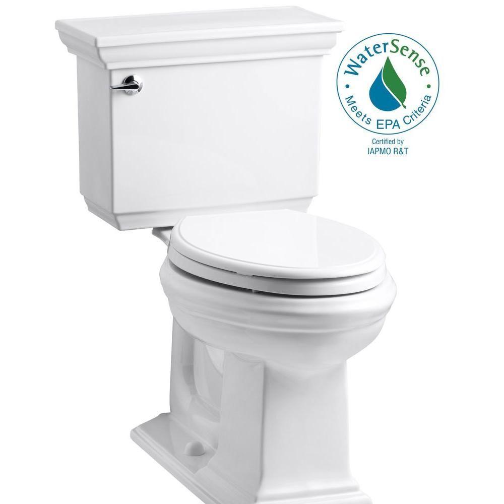 Memoirs Stately 2 Piece 1 28 Gpf Single Flush Elongated Toilet