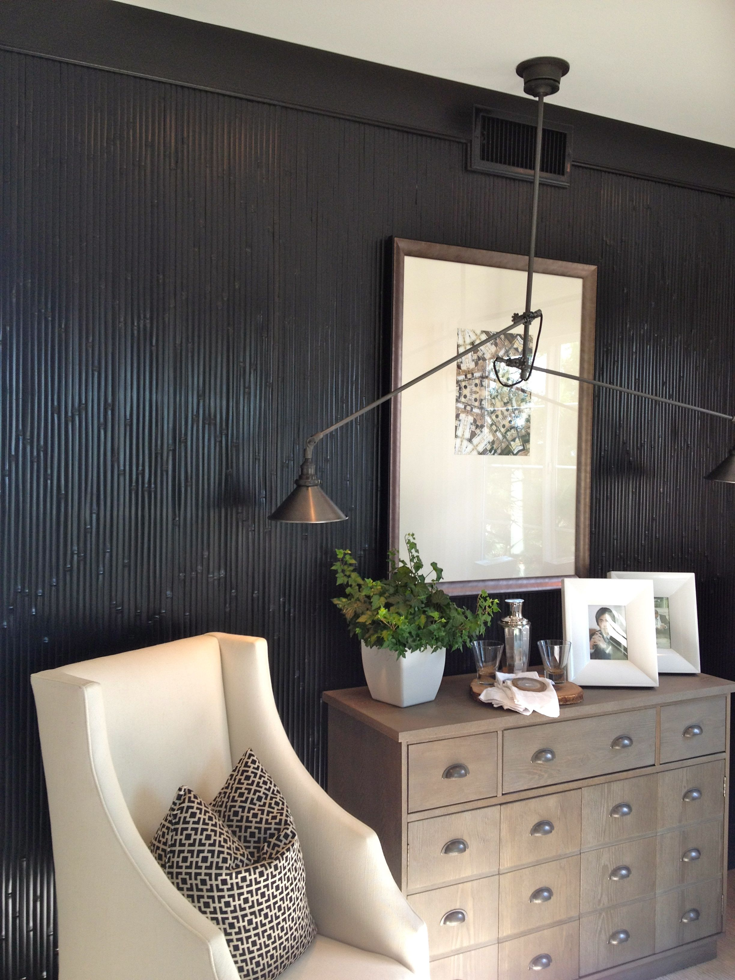 Dark Bamboo Accent Wall