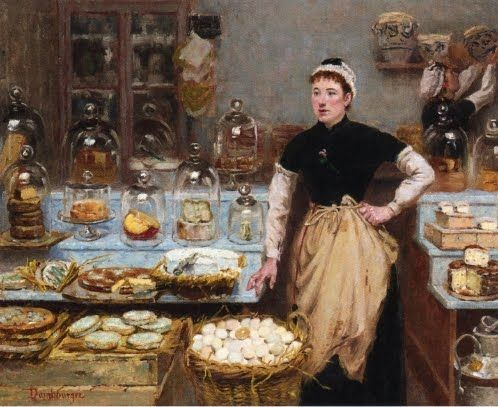 Edouard-Jean Dambourgez (French, 1844-1890) The Cheese Vendor