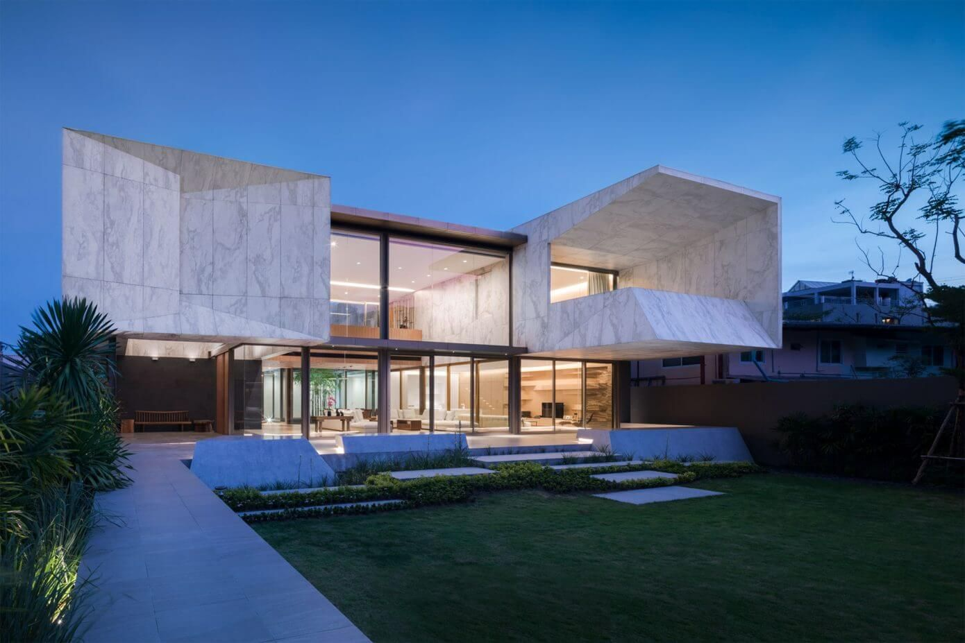 Contemporary concrete house located in bangkok thailand designed by openbox architects also rh pinterest