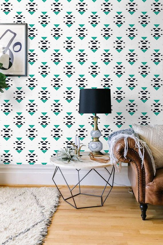 Bohemian Patterned Removable Wallpaper Boho Decal