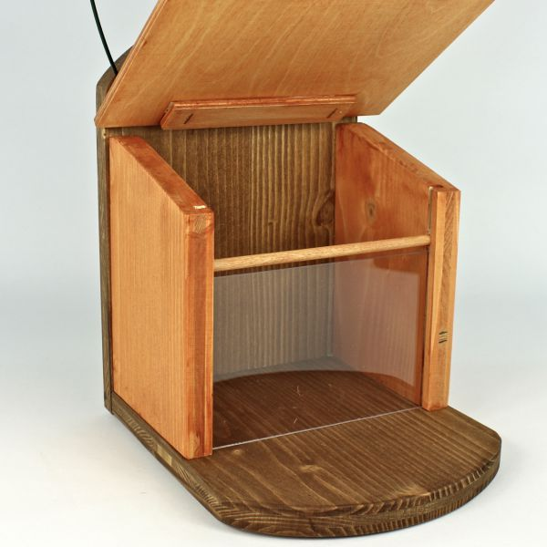 eichh rnchen nuss bar natur futterplatz futterkasten vogelkasten. Black Bedroom Furniture Sets. Home Design Ideas