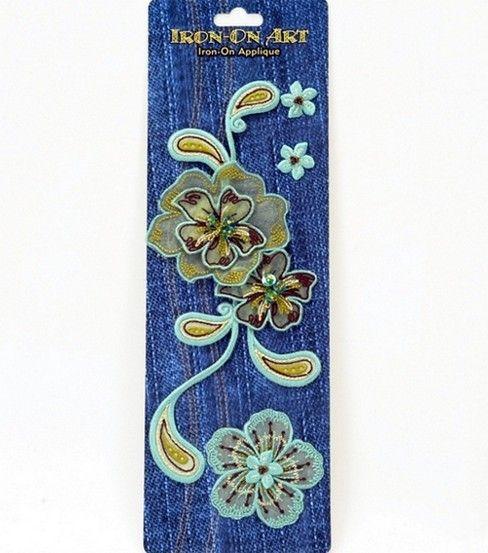 Sheer Flowers & Paisley Iron On Applique Iron on