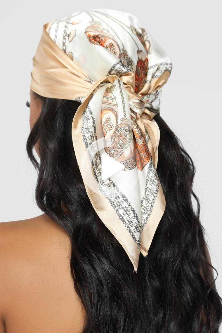 Pin On Xtenismata In 2020 Hair Scarf Styles Beige Hair Headband Hairstyles
