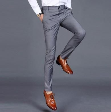 cdcc16744fafb uyuk Men Dress Pants Fashion Mens Business Formal Suit Pants Slim Fit  Design Men Trouser Pants Men Party Dresses office Trouser