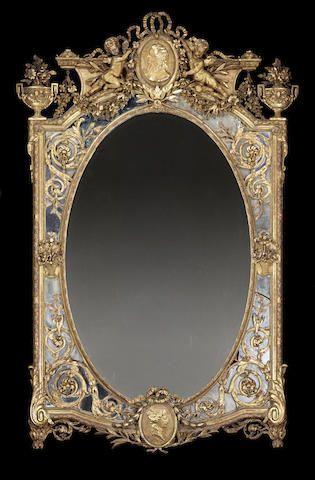 An Italian Rococo style giltwood mirror 19th century