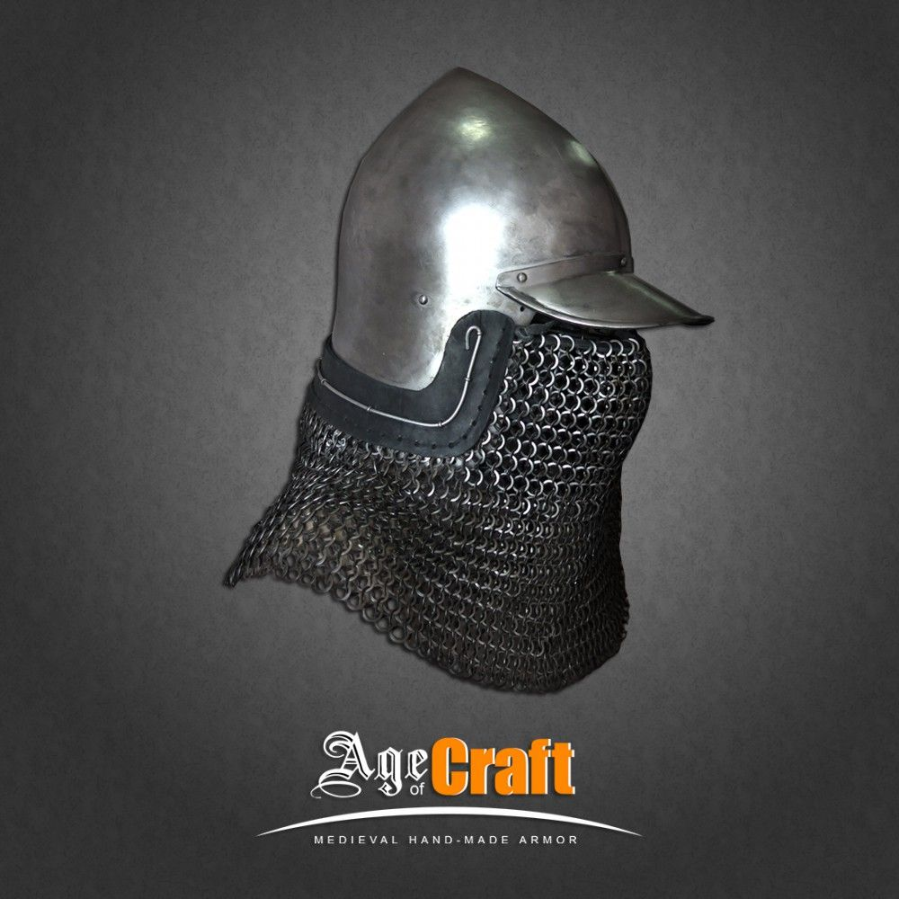 Bascinet with a peak | Age of Craft | REF - Medieval Armor