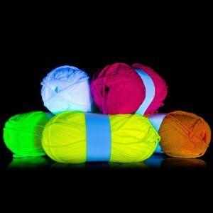 5 x UV Neon-Wolle Schwarzlicht String Art Schnur Faden Kostüme Theater GOA Deko Party Dekoration Knäuel Stricken Garn: Amazon.de: Küche & Ha...