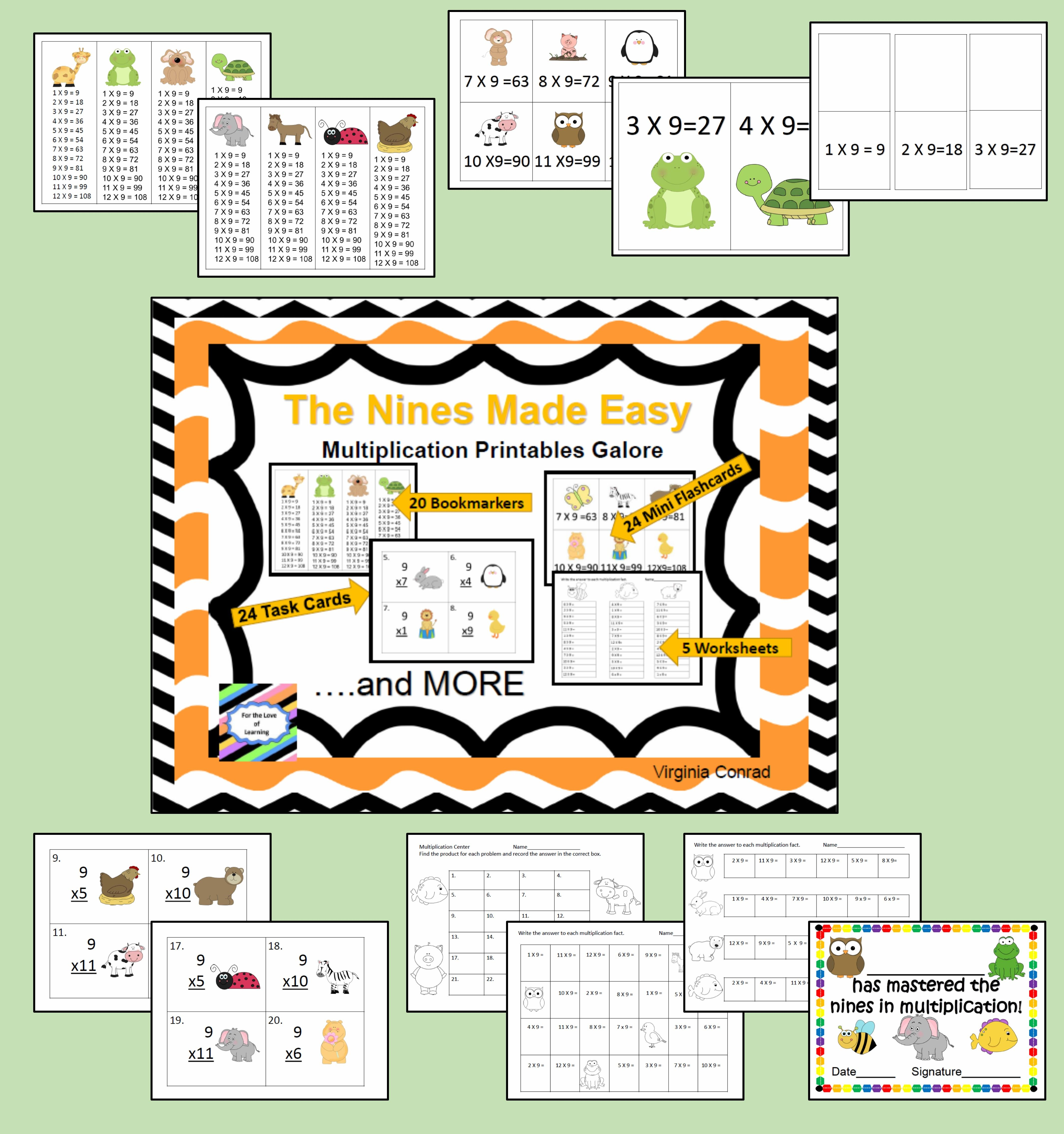 Nines Made Easy Multiplication Printables Galore