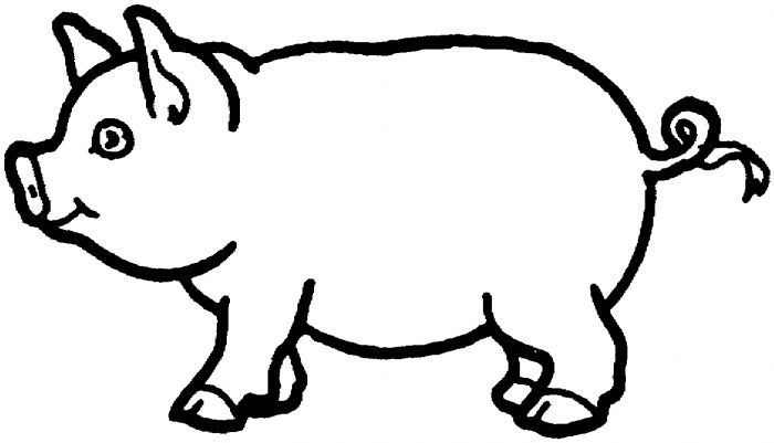 Pig colouring page (or finger paint with chocolate pudding