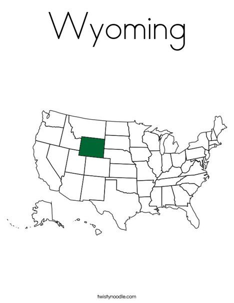 Wyoming Coloring Page Twisty Noodle Coloring Pages Cool