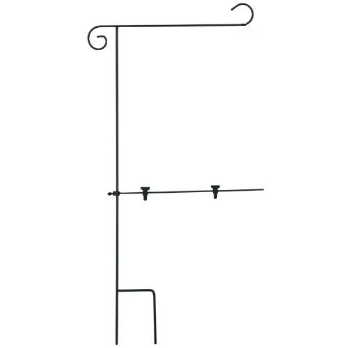 Finally A Solution To Garden Flags Being Flipped Over By The Wind Garden Flag Stand Includes Stabilizer Arm W Garden Flag Stand Flag Stand Garden Flag Pole