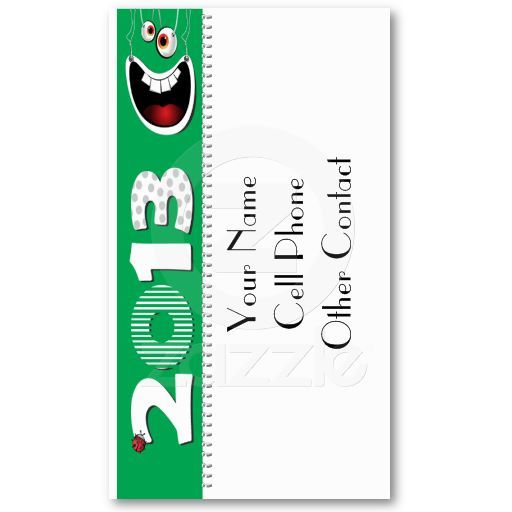 Cute Mom Calling Card Green Calendar Template Calling Cards - Business card calendar template