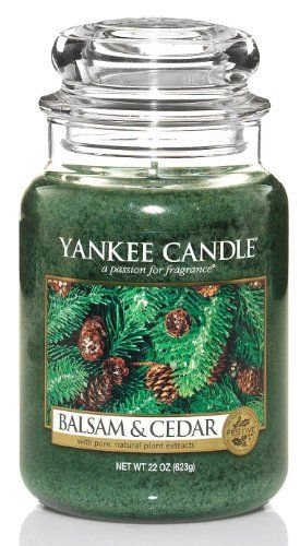 Yankee Candle Large 22 Ounce Jar Candle Balsam Cedar Yankee Candle Yankee Candle Company Yankee Candle Scents