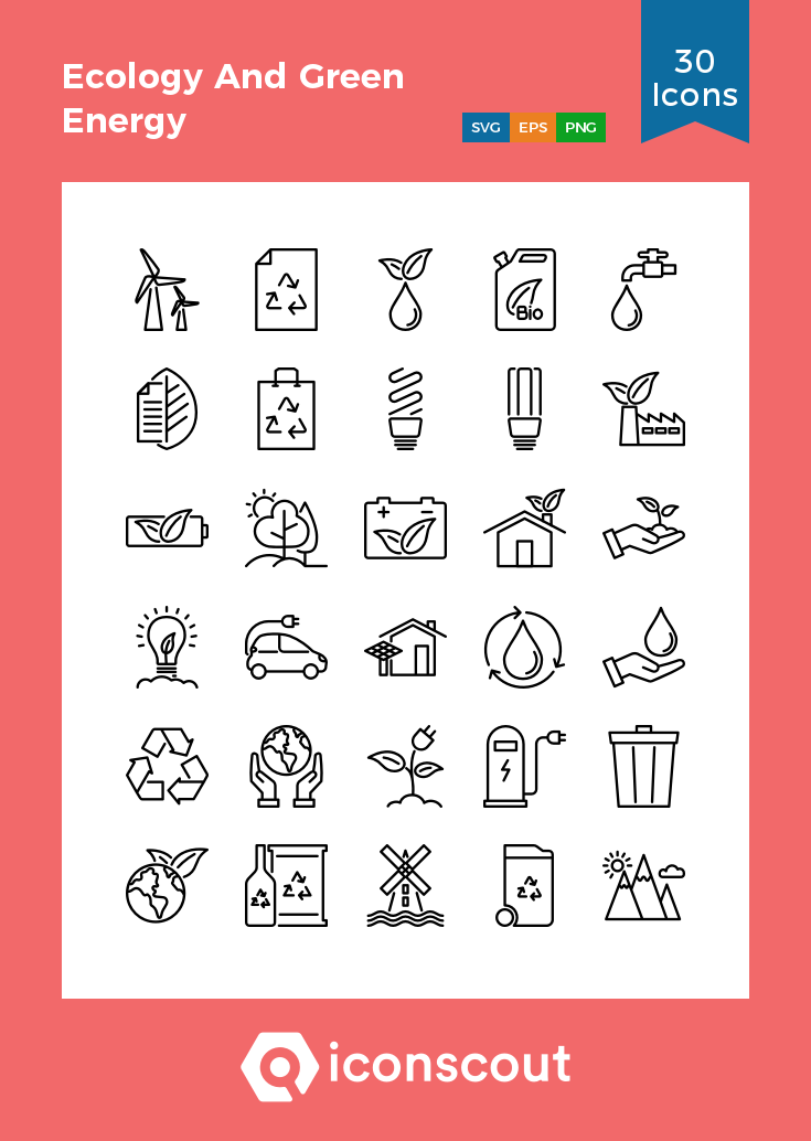 Download Ecology And Green Energy Icon pack Available in