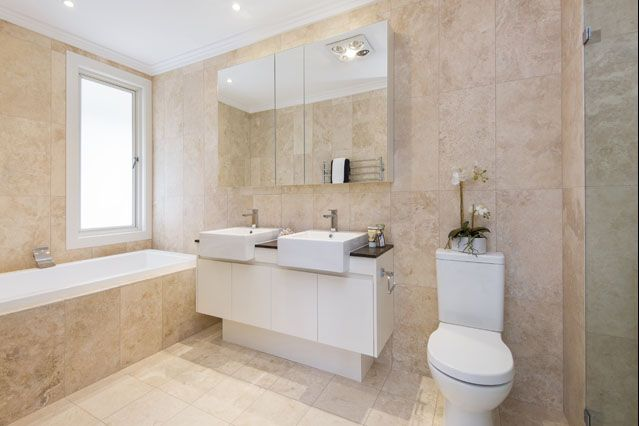 Marble bathroom from Award Winning Wahroonga House
