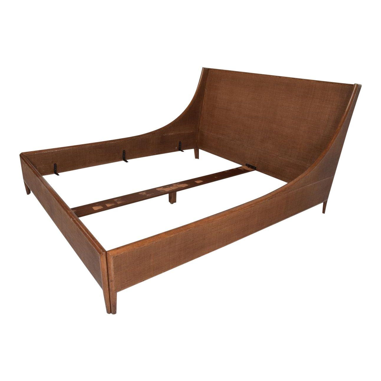 Mid Century Modern Cal King Bed Frame By Barbara Barry For Mcguire