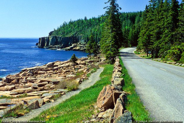 12 coastlines worth a long drive - Park Loop Road Acadia National Park, Maine  A 27-mile-long road with no shortage of rocky coastlines, fresh mountain lakes, and an abundance of forest greens. Catch the sunset at Cadillac Mountain and take in the picturesque views of the stunning scenery near Otter Cliff.