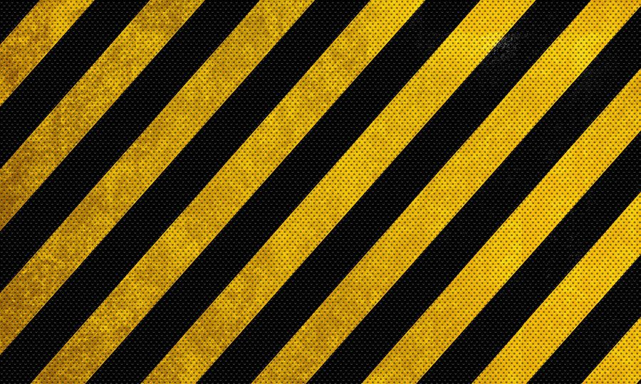 Black And Yellow Warning Lines Metal Texture Hd By