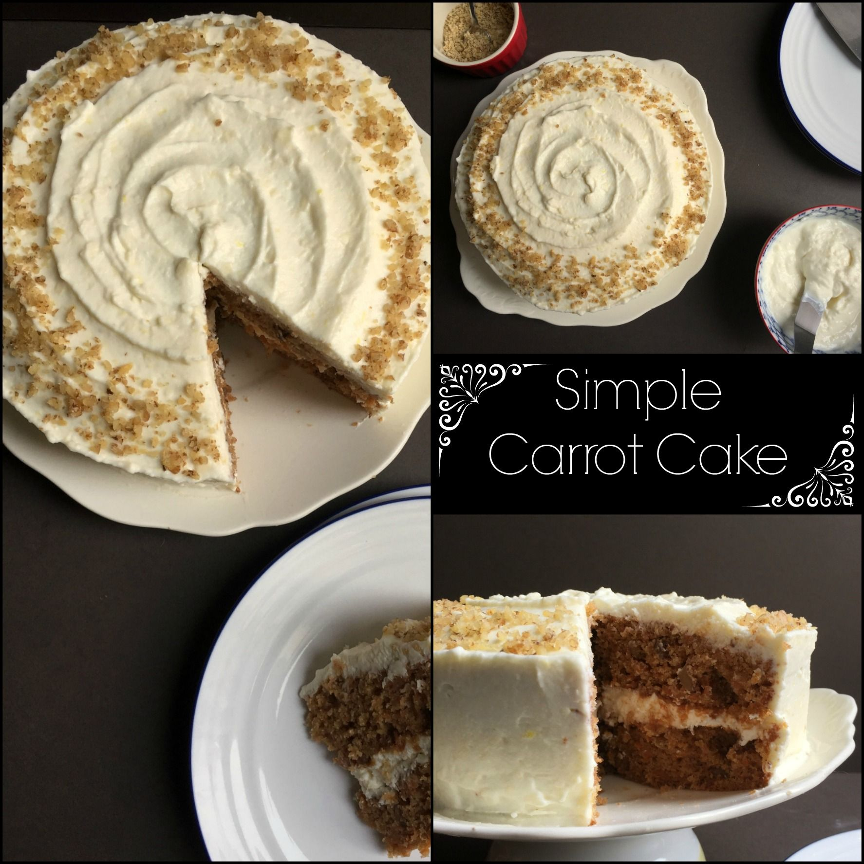 A recipe for simple carrot cake from women talking