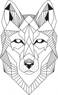 Wolf Lineart Free Vector Cdr Download 3axis Co Geometric Wolf Tattoo Geometric Drawing Geometric Wolf