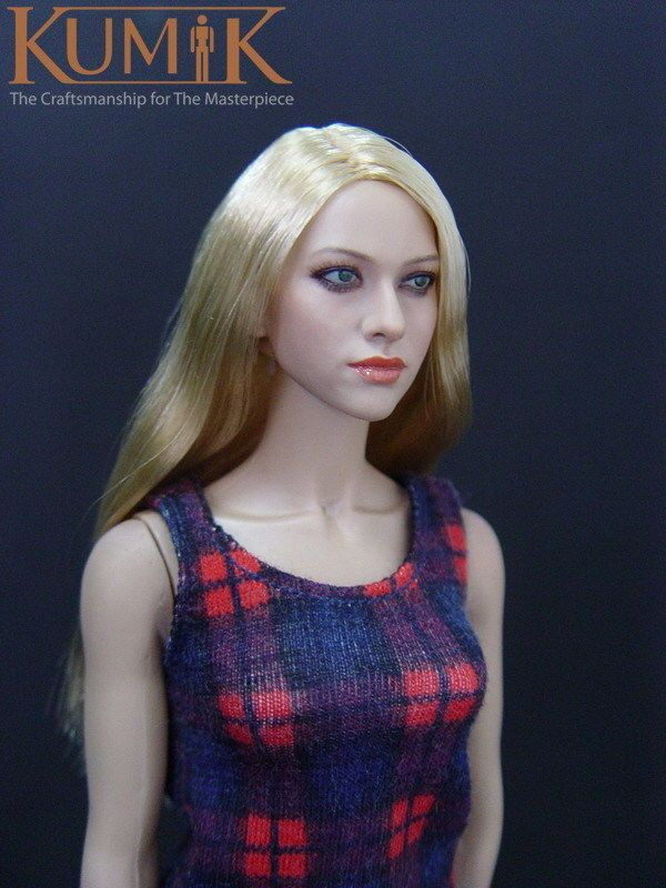 1//6 Female Body Head Model Carved for 12/'/' Hot Toys Action Figures Body