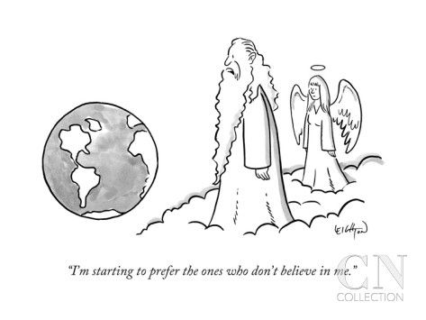 Image result for atheism cartoons new yorker
