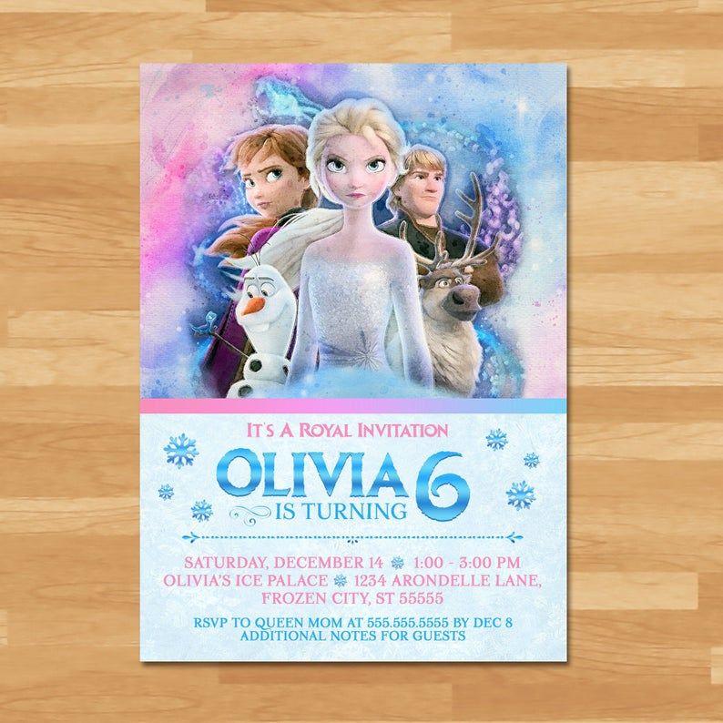 Frozen Invitation 2nd birthday invitations, Frozen